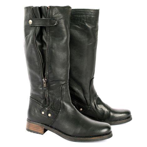 Pi-grec leather boots Black