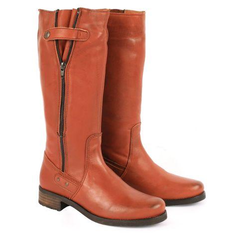 Pi-grec leather boots Cognac