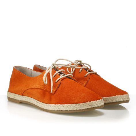 Playmotives women's leather derby Orange