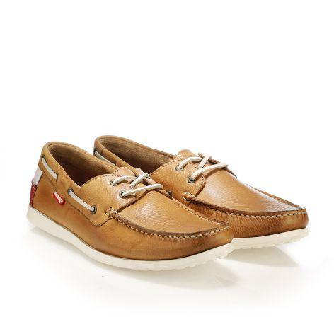 Urbanfly mens' boat shoe  Tan