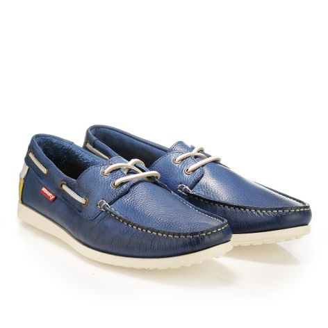 Urbanfly mens' boat shoe Blue