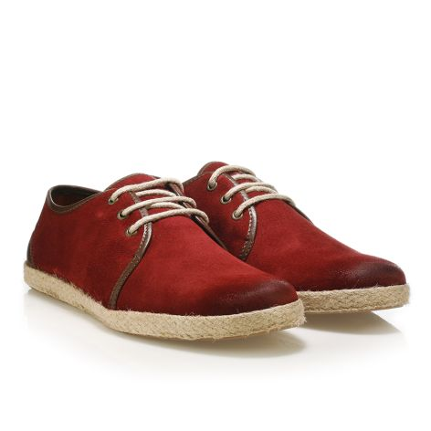 Urbanfly men's leather espadrilles Red