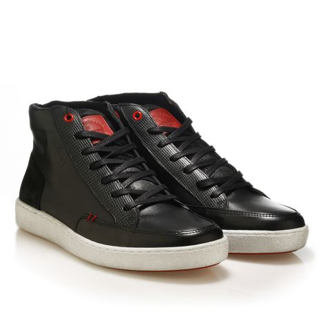 Urbanfly high-cut sneakers in black  Black