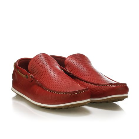 Urbanfly leather loafers Red