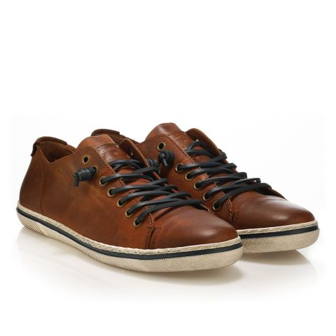 Urbanfly men's low-cut sneakers Brushed Cognac