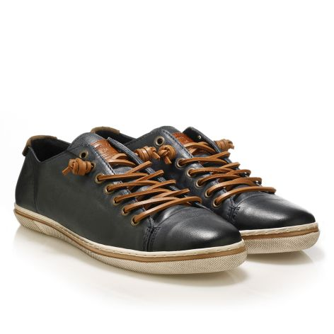 Urbanfly men's low-cut sneakers   Navy/tan