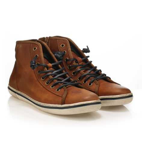 Urbanfly Men's high-cut sneakers Brushed Cognac