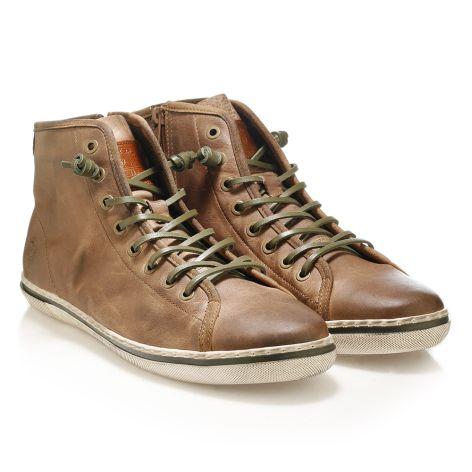 Urbanfly men's high-cut sneakers Dark Tan