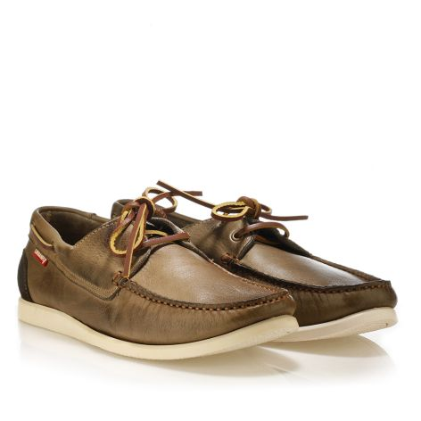 Urbanfly leather boat shoes Olive