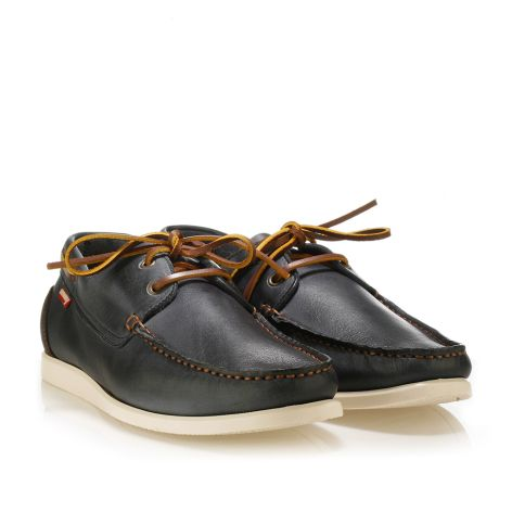 Urbanfly leather boat shoes Navy