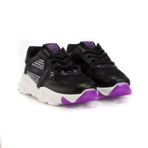 crosby black/purple women sport shoe Μαύρο/Μωβ