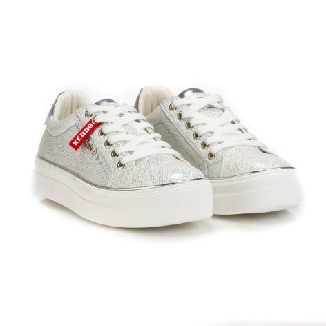 keddo silver casual womens shoes Ασημί