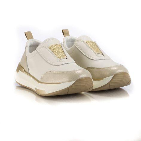 keddo beige gold athletic womens shoes Μπεζ-χρυσό