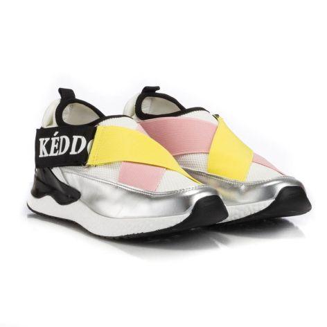 keddo silver/yellow athletic womens shoes ασημί/κίτρινο