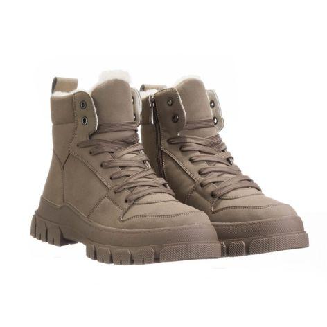 Keddo_beige_low_women_boots Μπεζ
