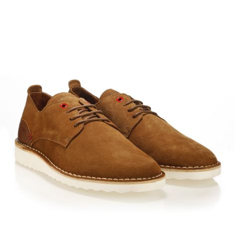 Leather laced shoes Urbanfly  Cognac