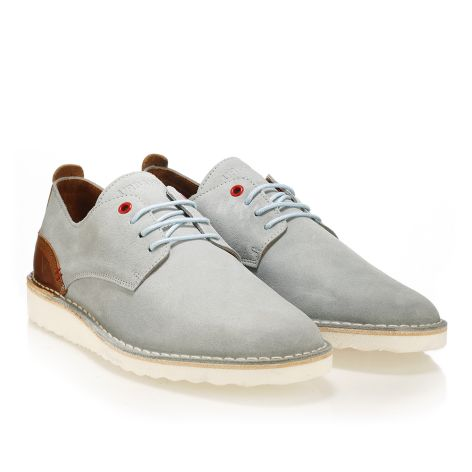 Leather laced shoes Urbanfly   Grey