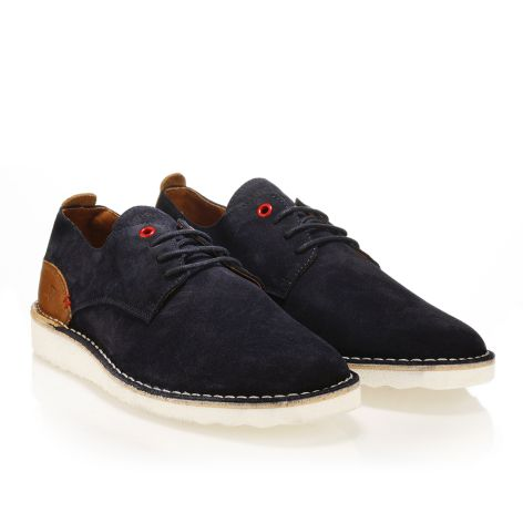 Leather laced shoes Urbanfly    Navy