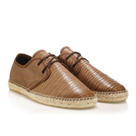 Mario Donati leather espadrilles   Brown
