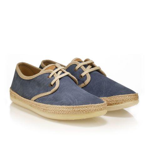 Palm Tree leather shoes Light blue