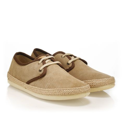 Palm Tree leather shoes  Taupe