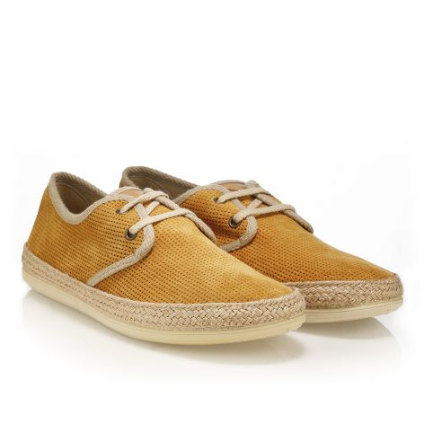 Palm Tree leather shoes  Ochre