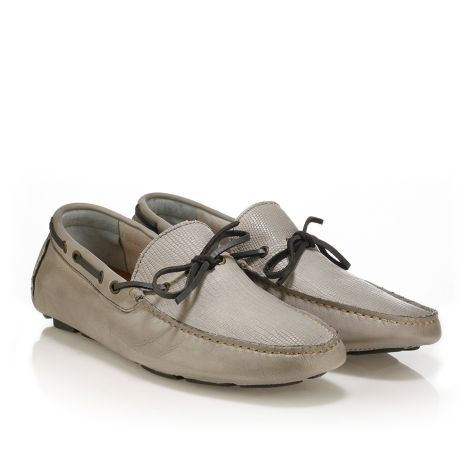 Urbanfly leather boat Grey