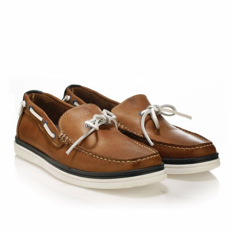 Mario Donati leather boat  Light Brown