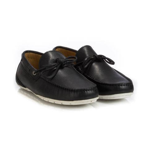 Tsilinikos men moccassins Μαύρο